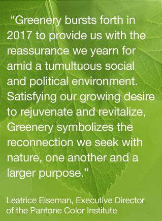 Greenery – il colore Pantone del 2017